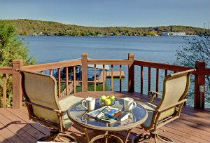 view of lake ozarks from a vacation rentals